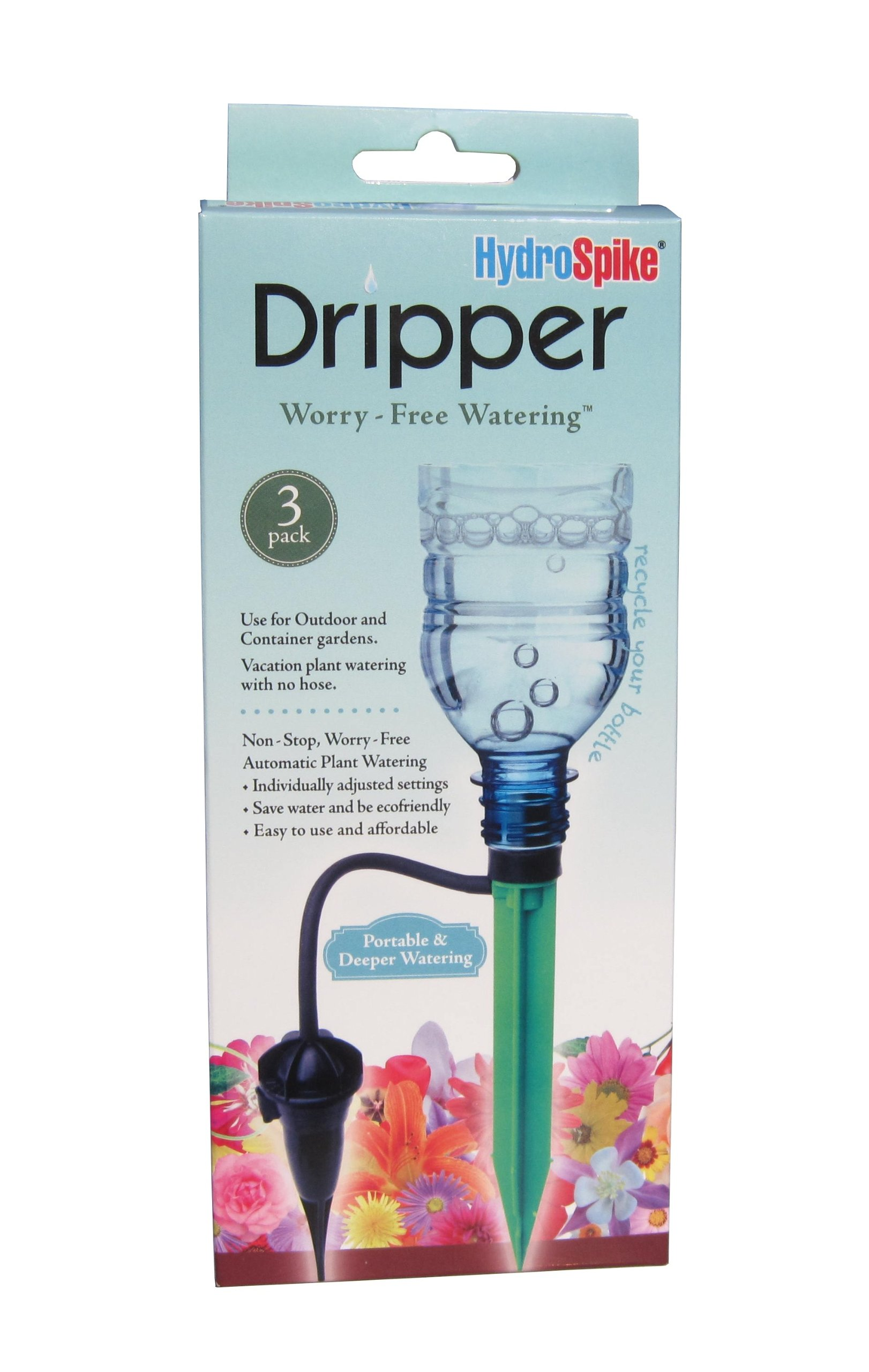 Hydrospike Dripper 3-pack Worry-free Adjustable Watering Kit - Outdoor & Indoor