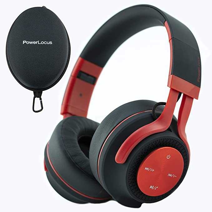 PowerLocus Bluetooth Auriculares Diadema P3,[Bluetooth 5.0,40h de música] Cascos Bluetooth Inalámbrico Plegable Casco Bluetooth y Audio Cable Sonido ...