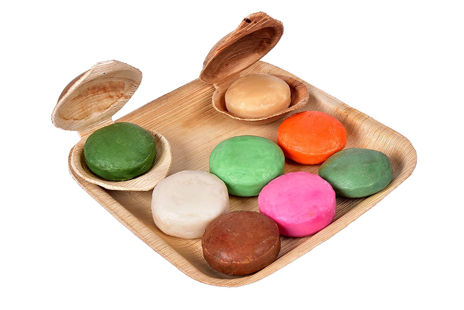 looms & weaves Natural & Hand Made Ayurvedic Soaps For All Types Of Skins  (Set Of 8 - 100 Gm Each)