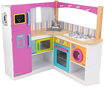 KidKraft Bright Grand Gourmet Corner Kitchen