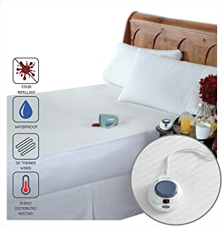 Amazing Perfect Fit SoftHeat Smart Heated Electric Waterproof And Stain Repellant  Mattress Pad With Safe U0026 Warm