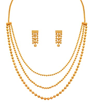 Buy jfl jewellery for less gold plated necklace earrings set jfl jewellery for less gold plated necklace earrings set for women aloadofball Gallery