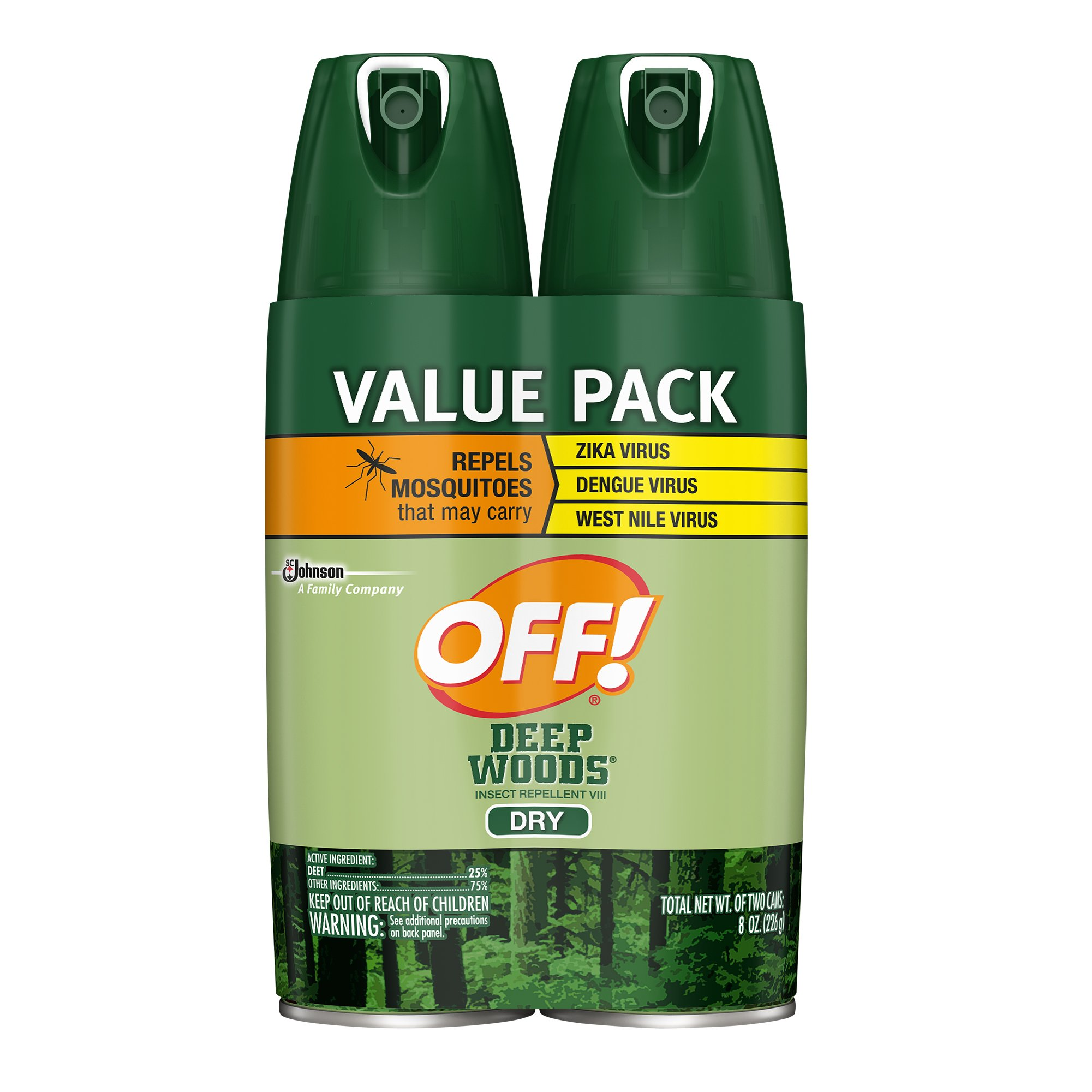 OFF! Deep Woods Insect Repellent VIII Dry, 4 oz. (2 ct)