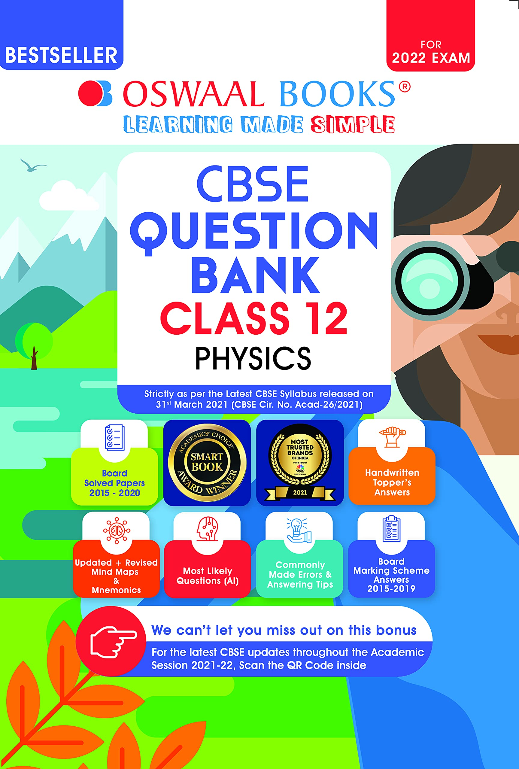Oswaal CBSE Question Bank Class 12 Physics Book Chapterwise & Topicwise Includes Objective Types & MCQ's (For 2022 Exam) Paperback – 29 April 2021