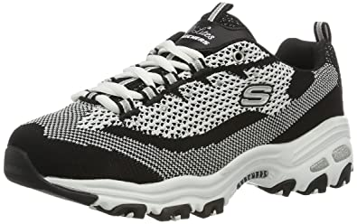 3ffefb7b997 Skechers Women s D Lites Low-Top Sneakers  Amazon.co.uk  Shoes   Bags
