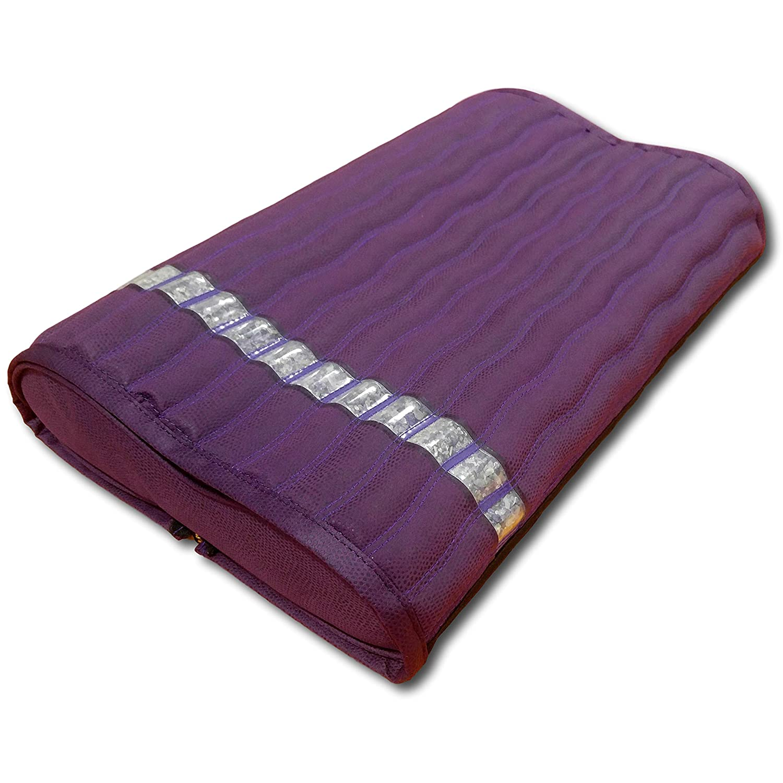 Ereada 遠赤外線アメジストマットピロー - ハイエンドマイナスイオンとFIRピロー - ジュエリーグレード天然アメジストジェム - メモリーフォーム - 高級スエード 2-in-1 Pillow 19