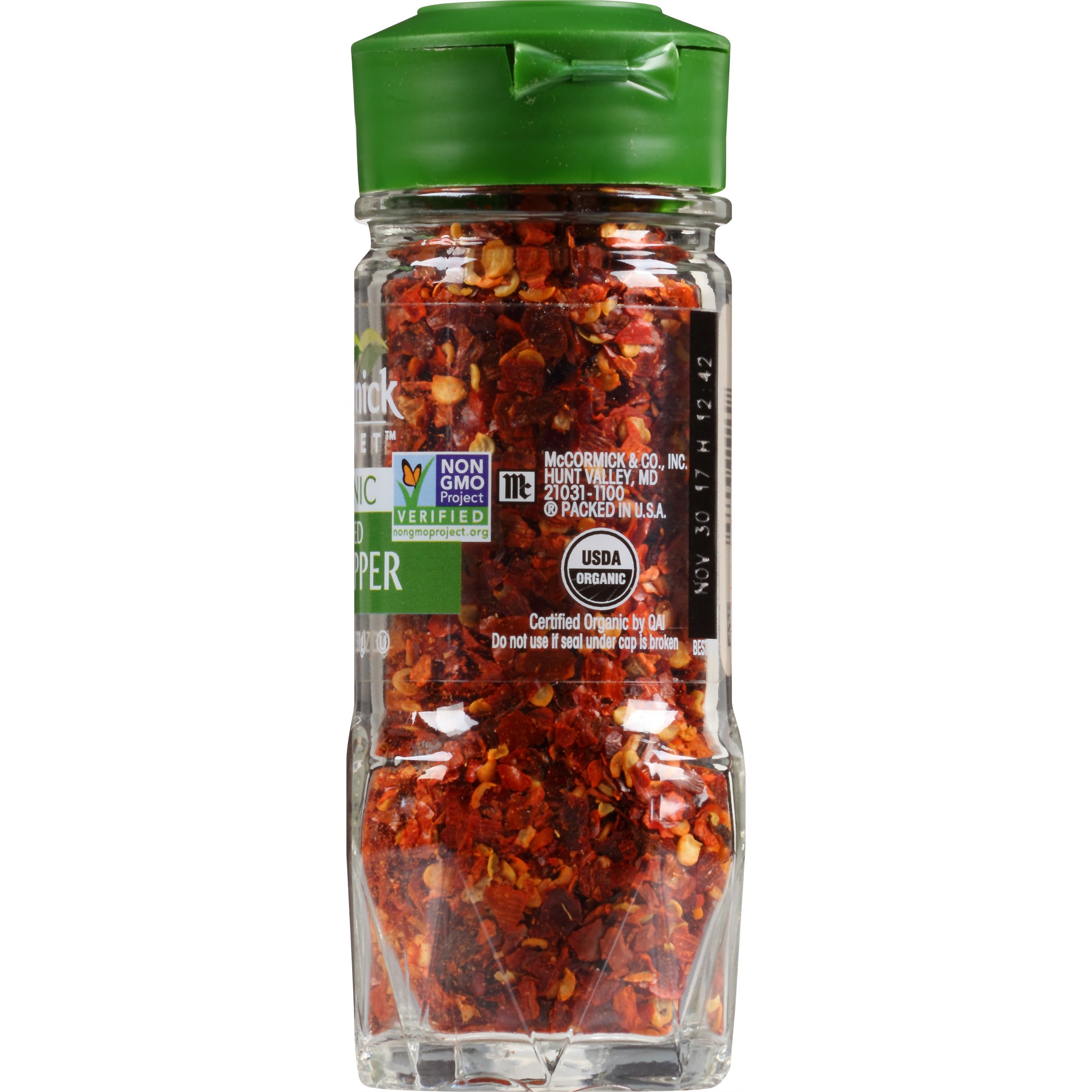 McCormick Gourmet 100% Organic Crushed Red Pepper, 1.12 oz (Packaging May Vary)