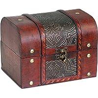 Idea didatecar Wooden Vintage Jewellery Storage Box Treasure Chest