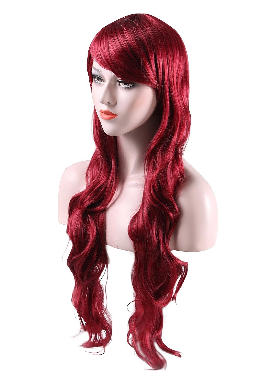 Peluca larga rizada para mujer, disfraz de Halloween, pelucas sintéticas resistentes al calor, 80 cm: Amazon.es: Belleza