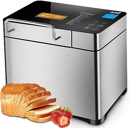 KBS Pro Stainless Steel Bread Machine, 2LB 17-in-1 Programmable XL Bread Maker