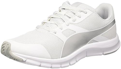 Puma Flexracer Gleam Wns, Sneaker Donna, BiancoArgento, 37