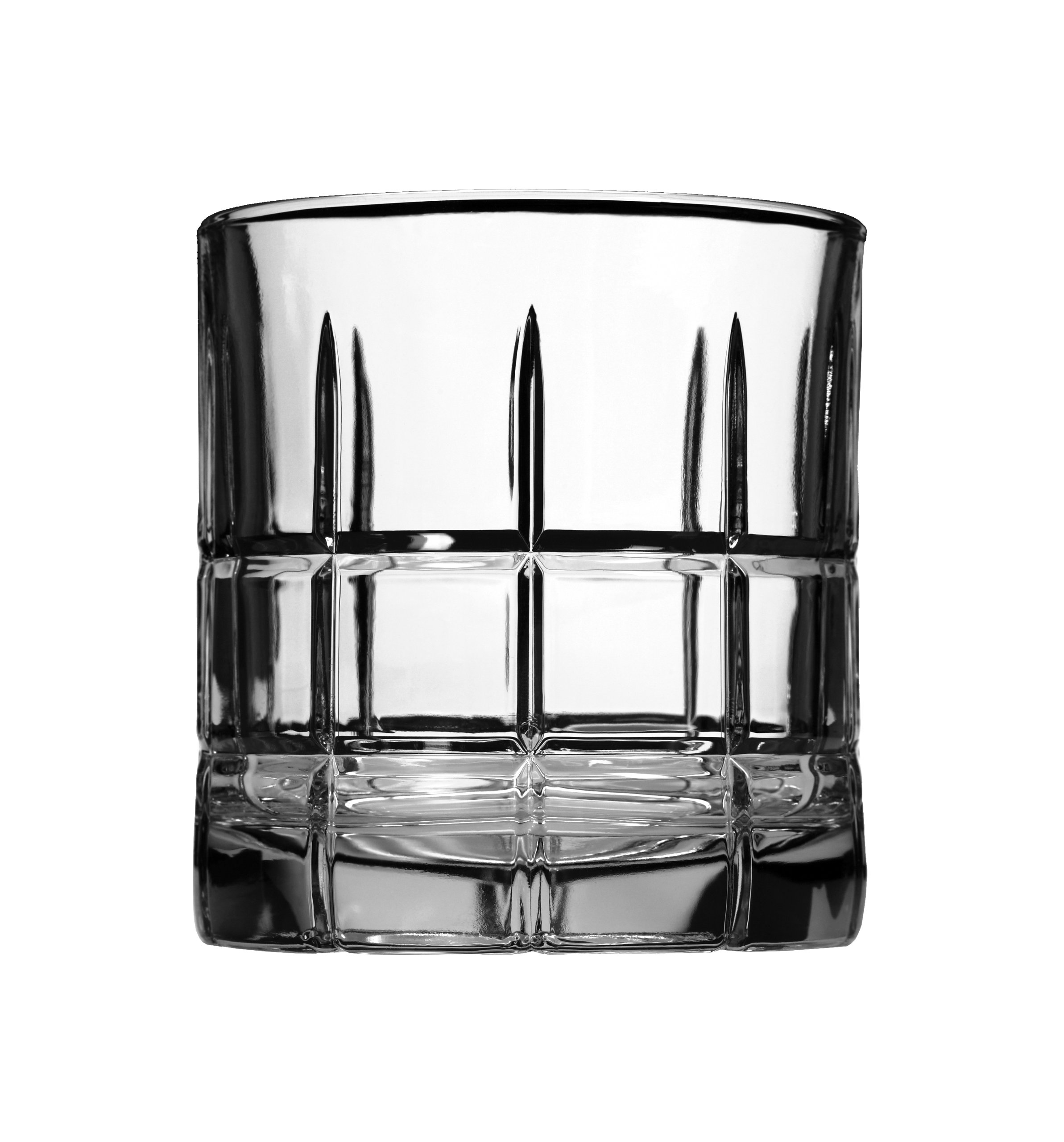 Anchor Hocking Manchester Rocks Old Fashioned Whiskey Glasses, 10.5 oz (Set of 12)