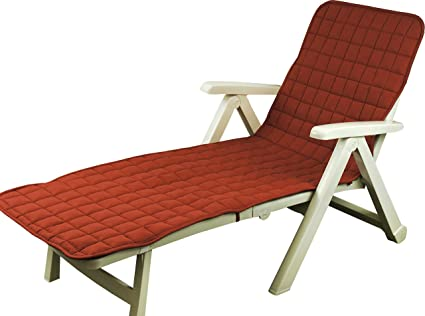 Ivery Soft Chaise Lounge Cushion 76 X 24 Terracotta Pillow Perfect Indoor Outdoor Individual Patio Chair Cover With Back Pocket Beach Mat