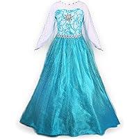 Nice Sport Petites Filles Princesse Elsa Manches Longues Robe Costume