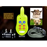 Groovypets 1-Dog Remote Dog Training Collar Systems:Rechargeable Remote Dog Collar No Bark Training Shock Collar System