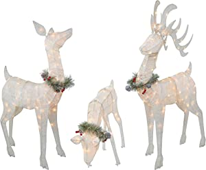 "Top Treasures 3 Piece Reindeer Family | Lighted Deer Set | 210 Lights 52"" Buck 44"" Doe 28"" Fawn 