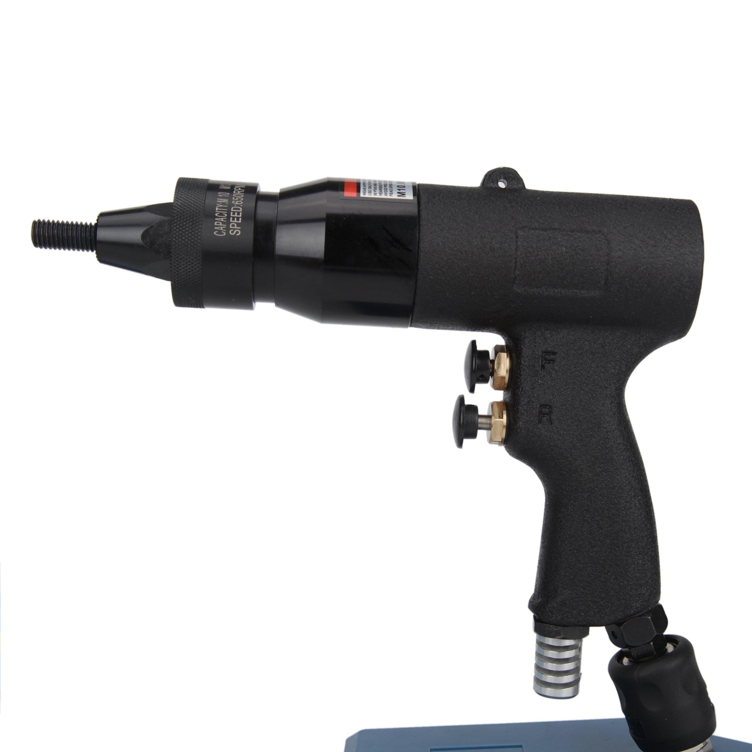 Ouya 1114 Pneumatic Riveter Pull Setter Gun M10-M12 with 600RPM for Aluminum Rivet Nuts