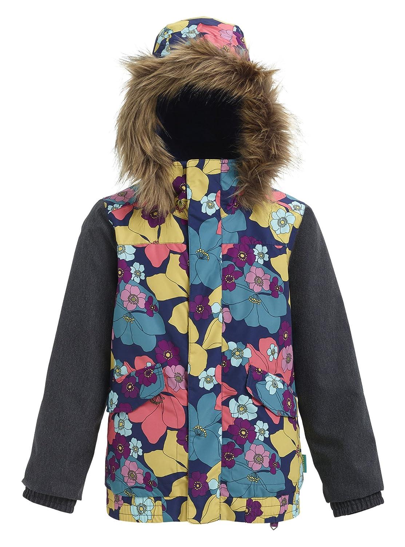 Burton(バートン) スノーボード ウェア ジュニア キッズ ジャケット GIRLS WHIPLY BOMBER JACKET 2018-19年モデル S~Lサイズ FLOWER / DENIM Mサイズ