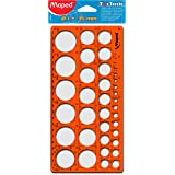 Maped M277620 - Plantilla 39 círculos, 1 - 35 mm, naranja