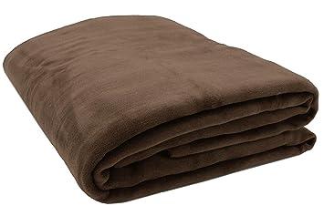 ZOLLNER Manta para Cama y sofá, marrón, 150x200 cm, en Otros Colores y Medidas, 60% algodón y 40% acrílico