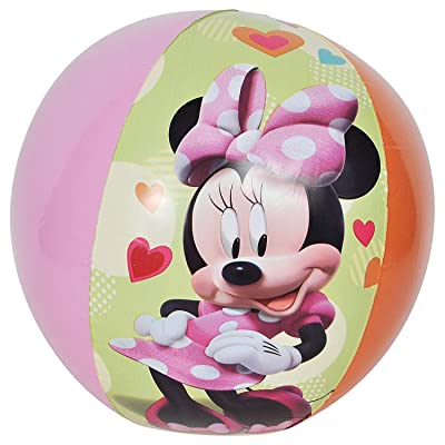 UPD Minnie Bowtique Inflatable Beach Ball, Multicolor, 17.5in (26589MIN): Toys & Games