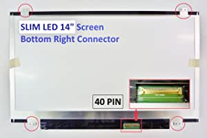 HP Envy 4-1015DX ULTRABOOK Laptop Screen 14 Slim LED Bottom Right WXGA HD