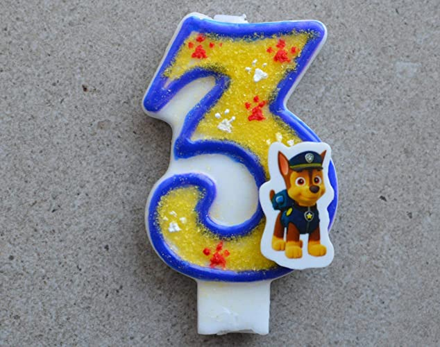 Image Unavailable Not Available For Color Paw Patrol Birthday Candle