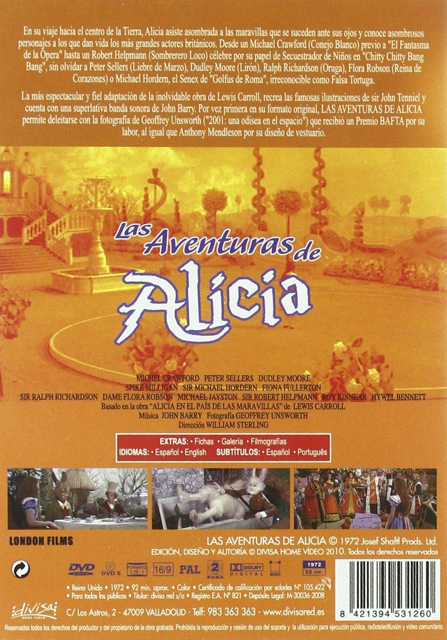 Las aventuras de Alicia [DVD]: Amazon.es: Michael Crawford, Peter ...