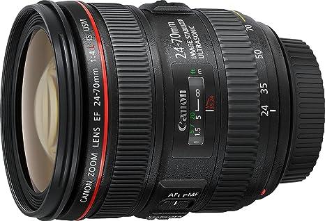 Canon Standardzoomobjektiv EF 24-70mm f/1:4L IS USM (77mm Filtergewinde) schwarz