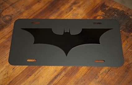 Batman Photo License Plate