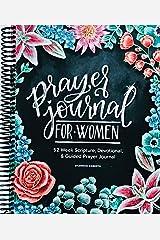 Prayer Journal for Women: 52 Week Scripture, Devotional & Guided Prayer Journal Spiral-bound