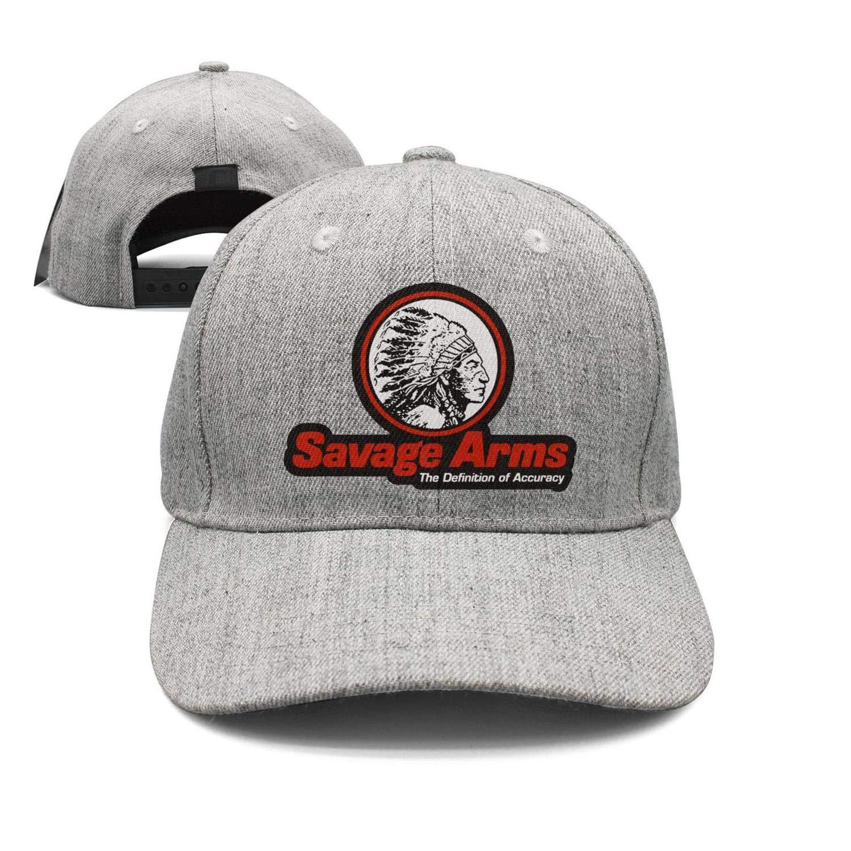 Wujjsoe Unisex Cool Cap Baseball One Size Snapback-Savage-Arms-Logo-Cotton Hat Core