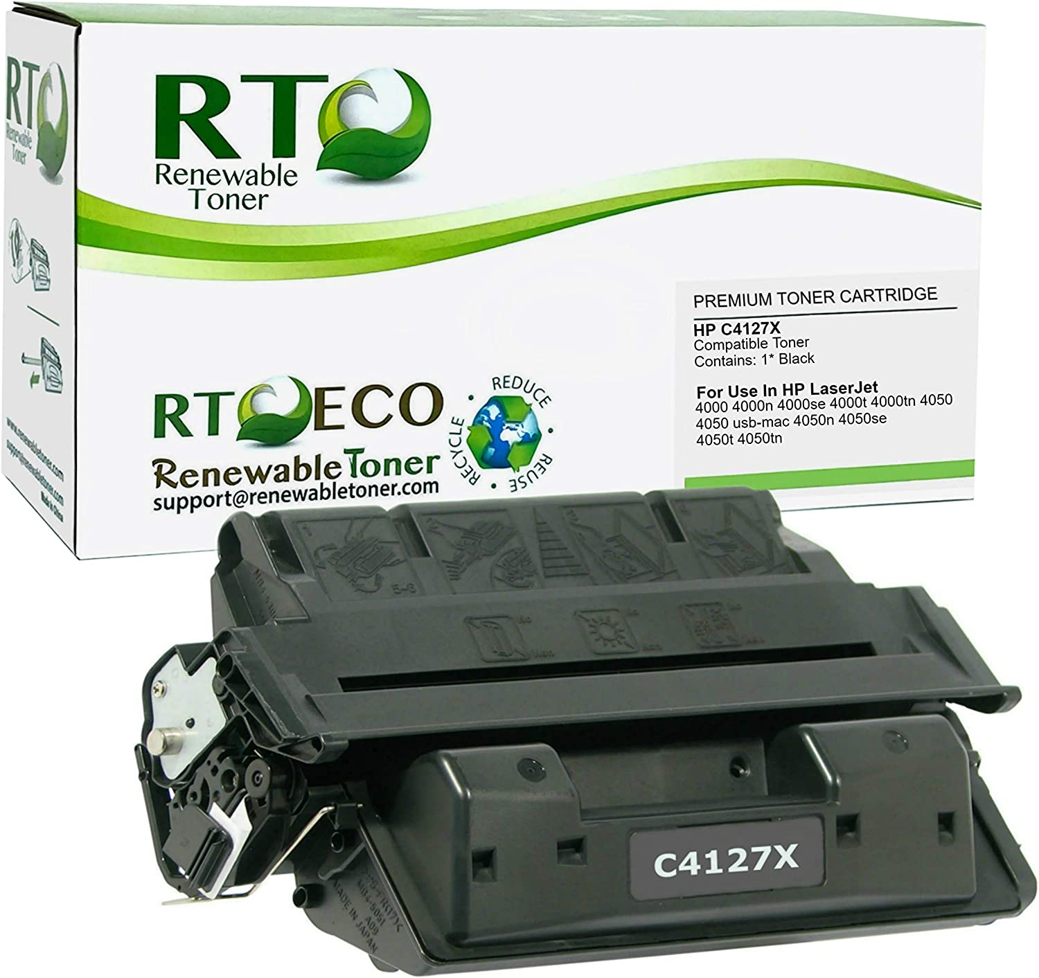 Renewable Toner Compatible Toner Cartridge High Yield Replacement for HP 27X C4127X Laserjet 4000 4050