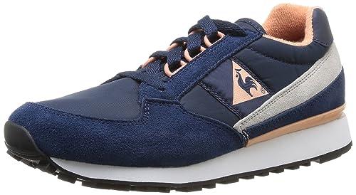 Le Coq Sportif Eclat W - Zapatillas de deporte de cuero para mujer azul Bleu (Dress Blues) 37: Amazon.es: Zapatos y complementos