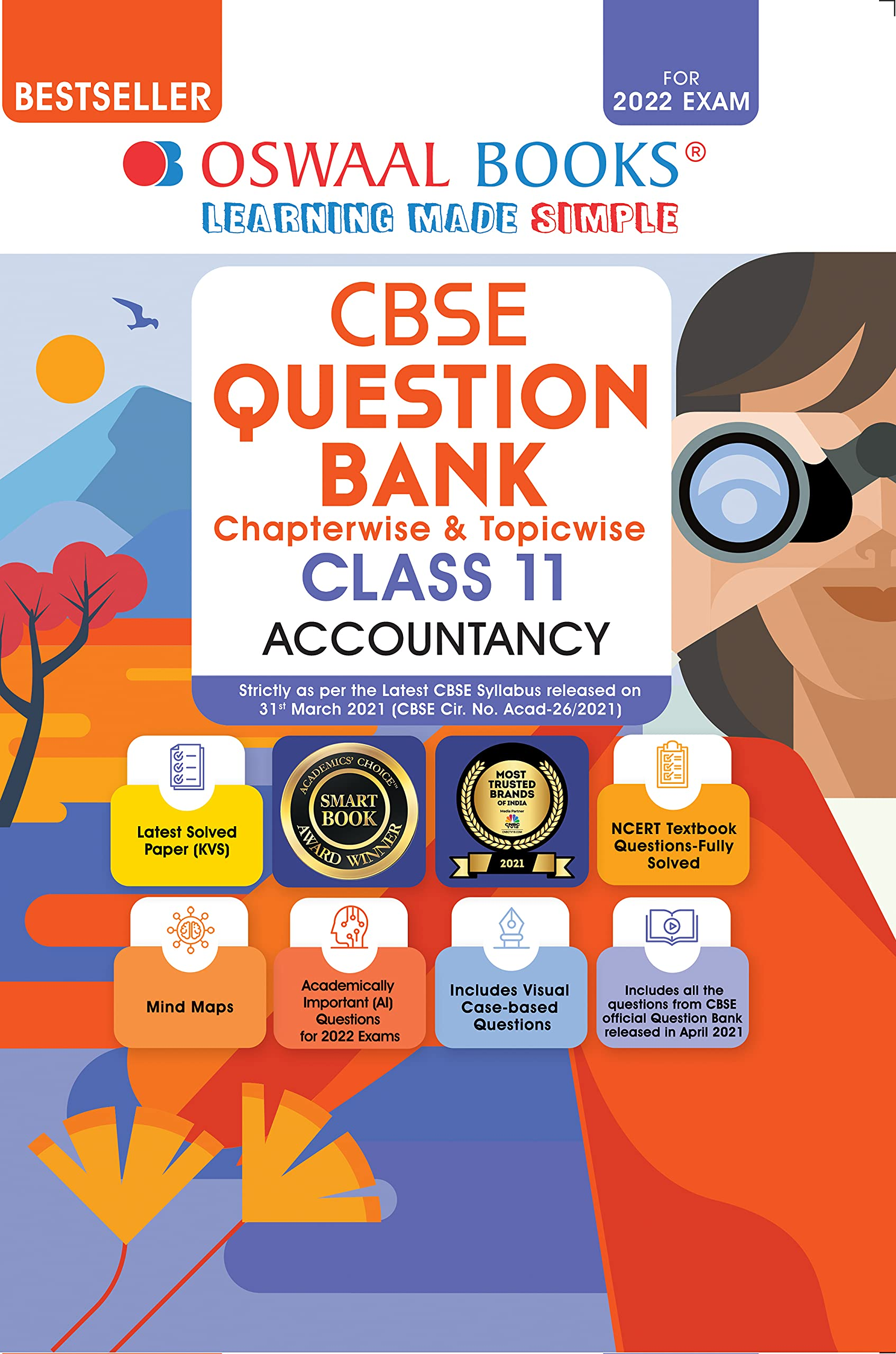 Oswaal CBSE Question Bank Class 11 Accountancy Book Chapterwise & Topicwise Includes Objective Types & MCQ's (For 2022 Exam)