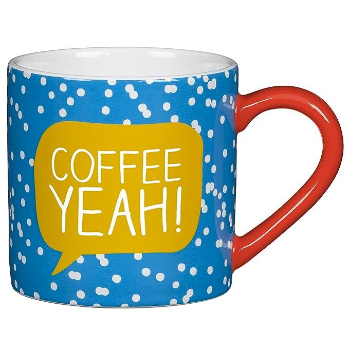 Scion Mr Fox Yellow and Charcoal Large Mug Cute Fun Animal Coffee Hot Drinks