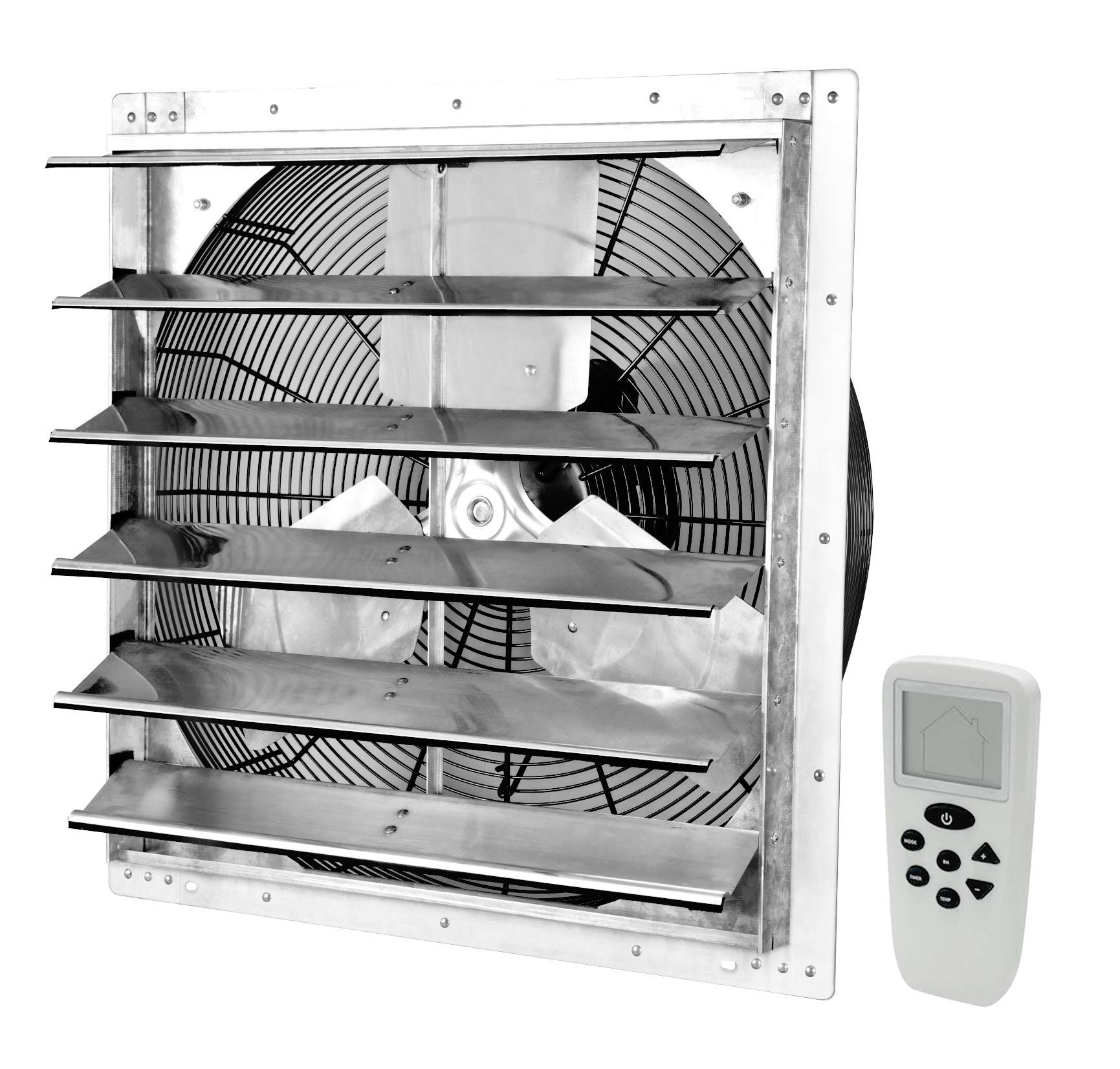 Iliving ILG8SF20VC Shutter Mount Exhaust Fan, 20'' - Variable, Silver (Renewed) by Iliving