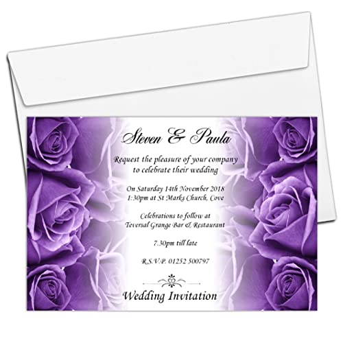 purple wedding invitations amazon co uk