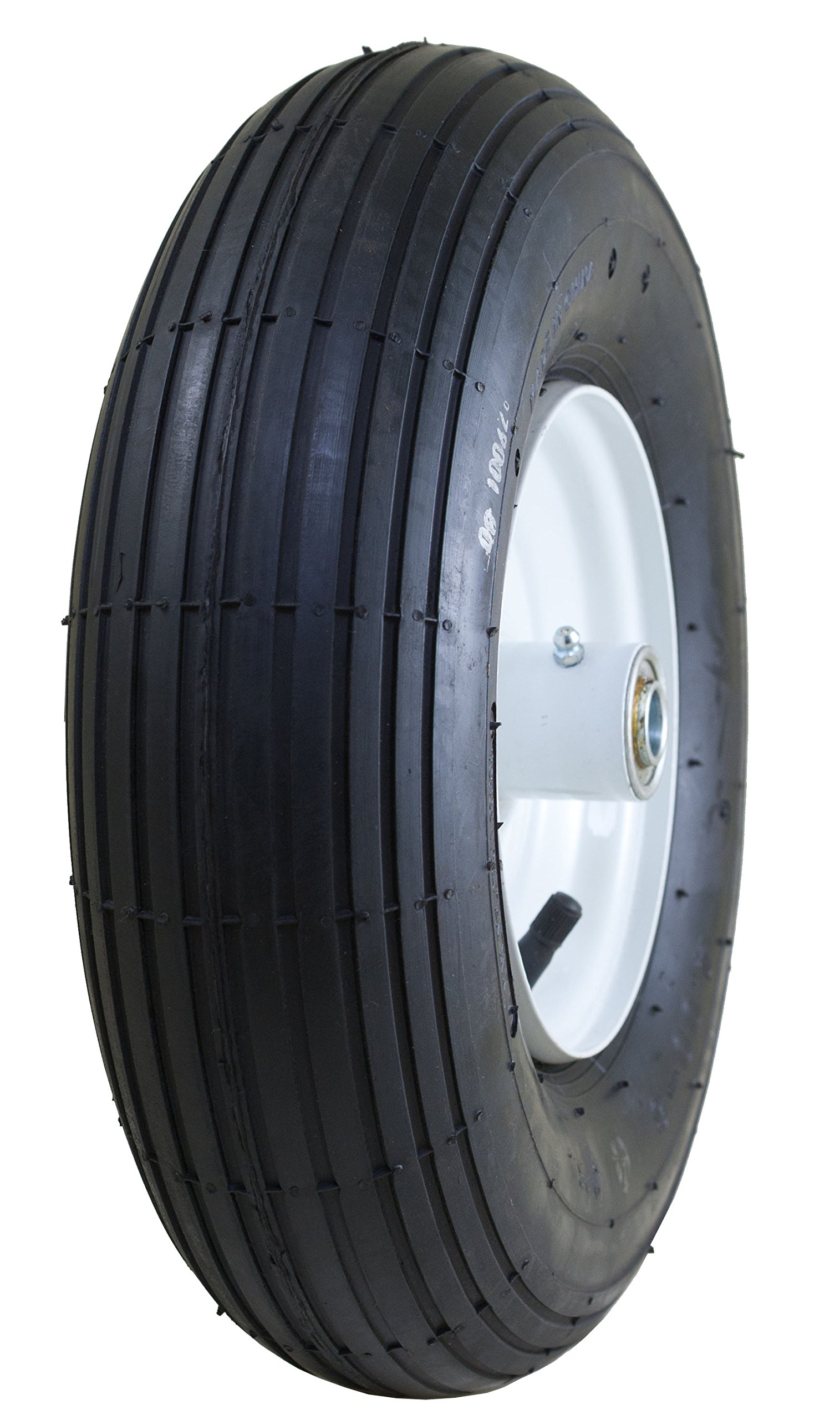 Marathon 4.00-6'' Pneumatic (Air Filled) Tire on Wheel, 3'' Hub, 5/8'' Bearings