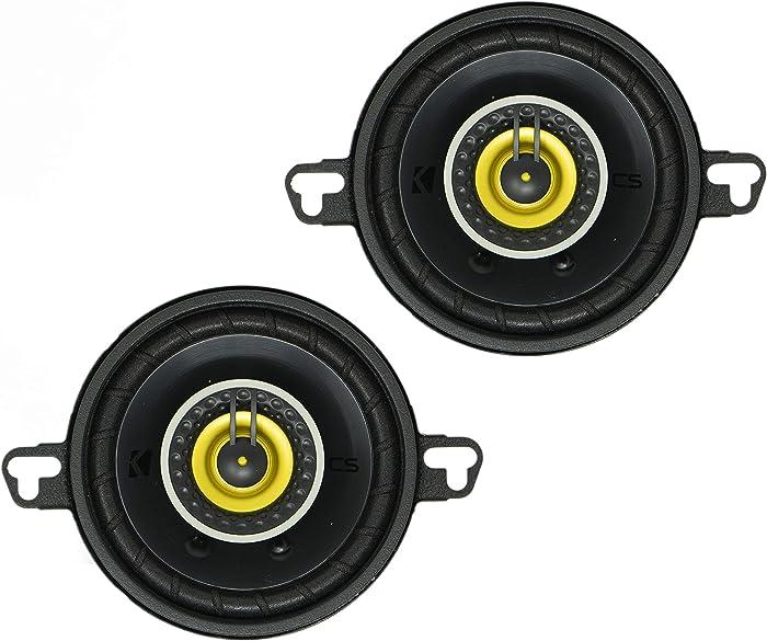 "Kicker 46CSC354 Car Audio 3 1/2"" Coaxial Full Range Stereo Speakers Pair CSC35"