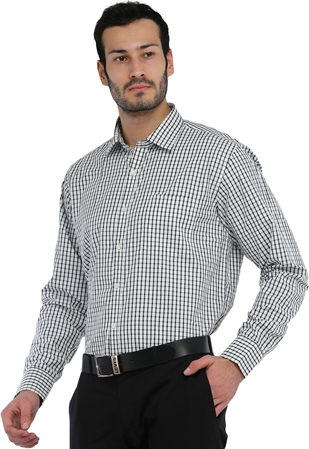 Exotic India - Camisa de Cuadros Informal, Color Blanco y Negro: Amazon.es: Ropa y accesorios