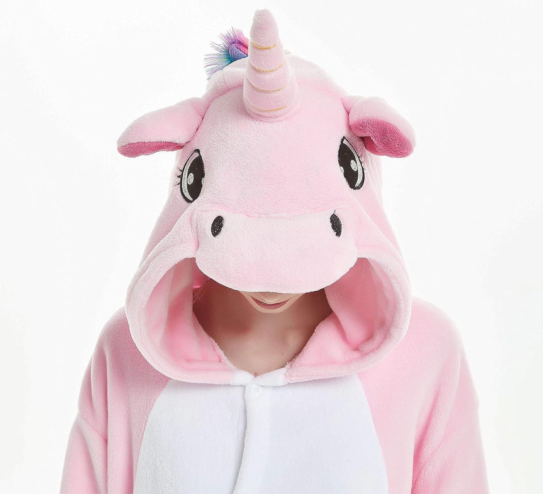 JXUFUFOO Unicorno Pigiama Animale Costume Adulto Unisex