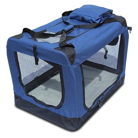 Yatek Transportin para Perros Plegable entradas Laterales y Superiores con Alta Visibilidad, Confort y Seguridad