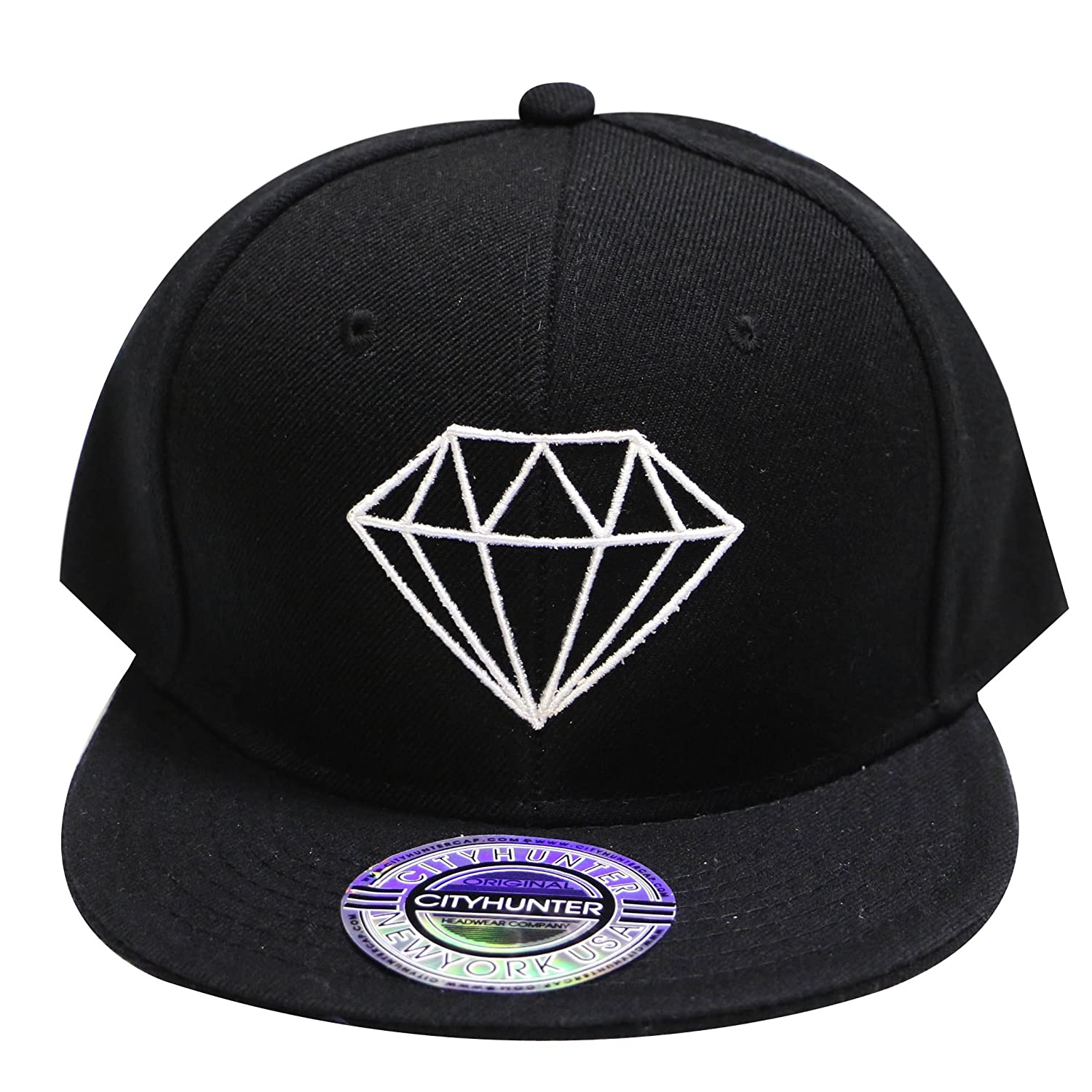 City Hunter Cf918t Acrylic Diamond Snapback Caps Multi Colors (Black) at Amazon  Men s Clothing store  e9249f2ce08b