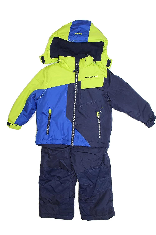 Weatherproof Toddler Boys' Snow Bib and Jacket Set Navy)