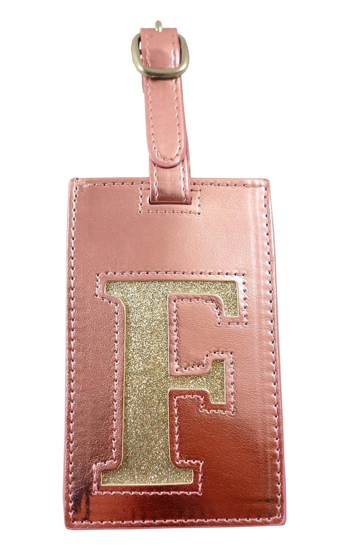 Luggage Address Tags - Letter F - Pink (MI169)