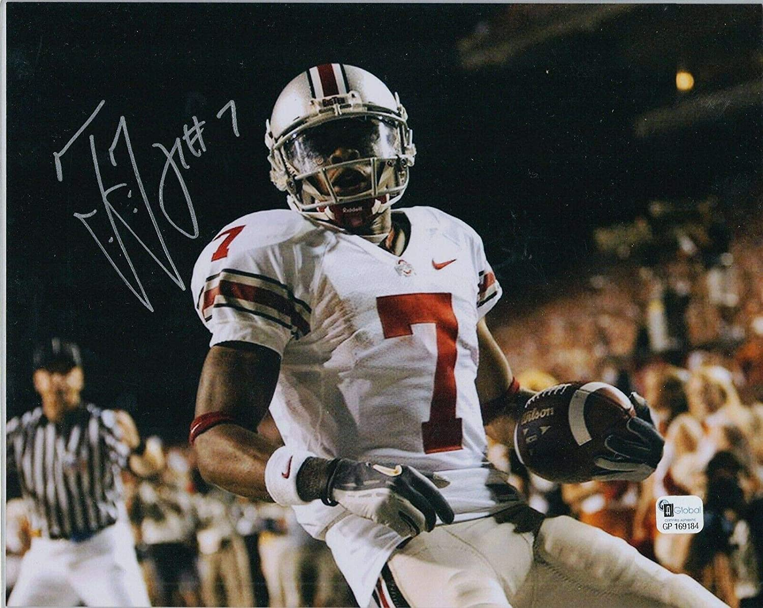 Ted Ginn Jr Ohio State Buckeyes Signed 8x10 White Jersey Photo
