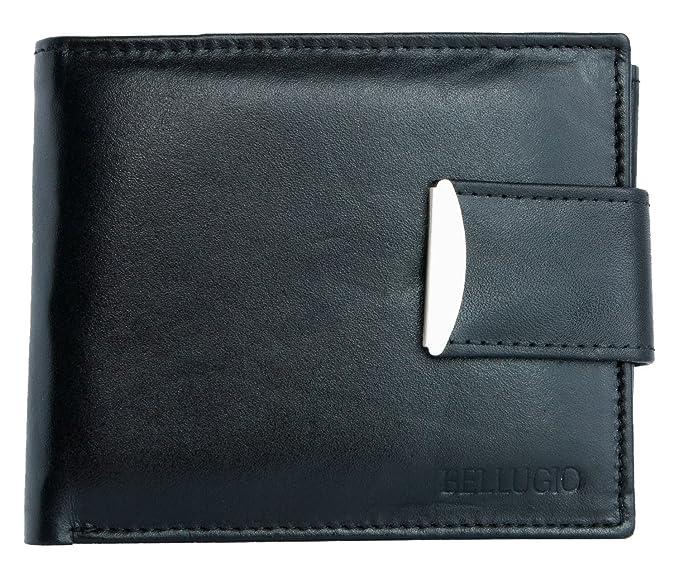 9c57fcdd2189f Bellugio Men's Genuine Leather Wallet One Size Black at Amazon Men's ...