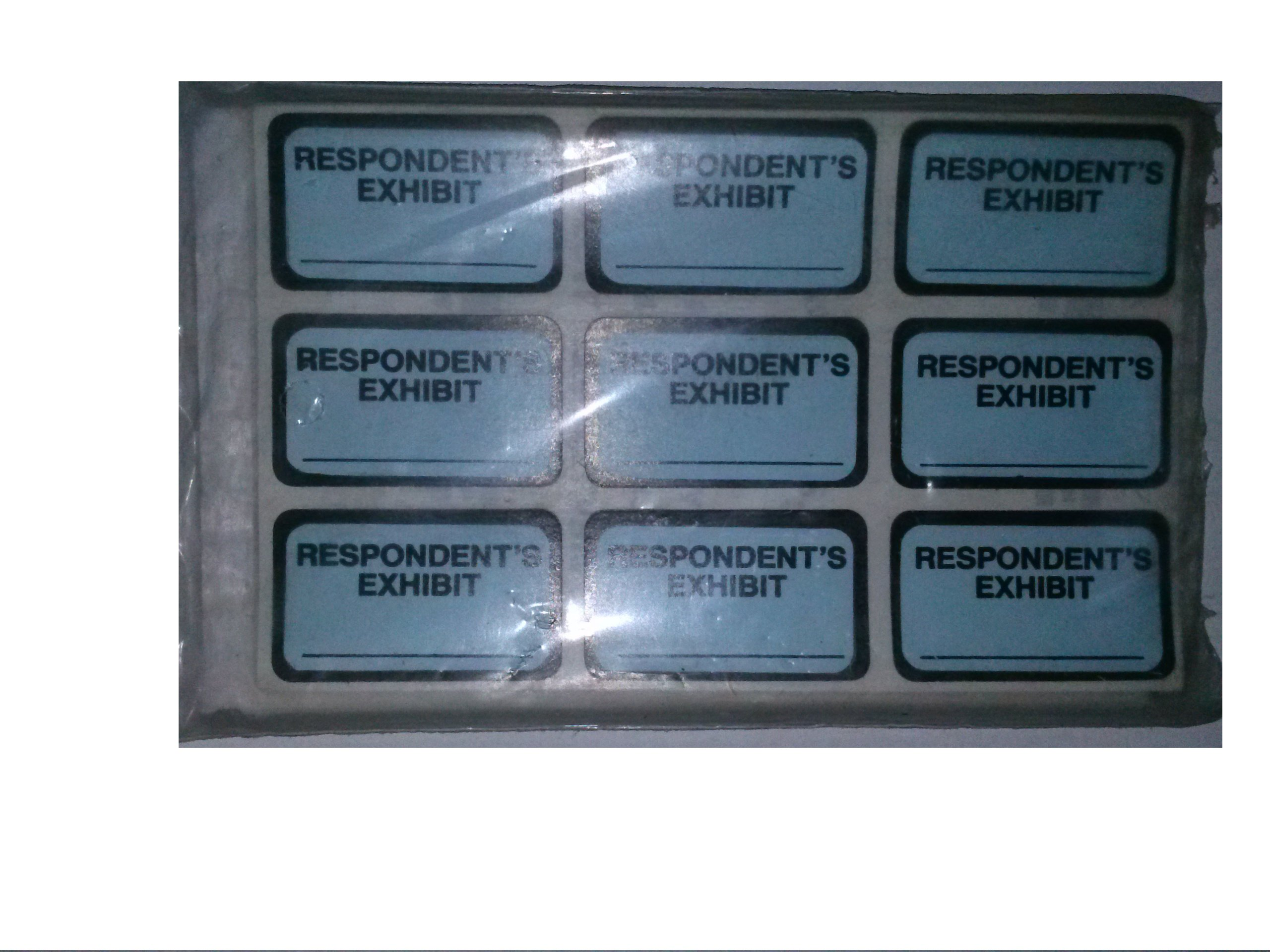 Tabbies 58027 Legal Exhibit Labels Respodent's Exhibit 252 Tabs Easy to Use Self Adhesive by Tabbies (Image #1)
