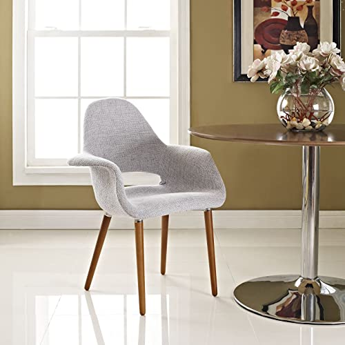 Modway Aegis Upholstered Dining Armchair, Light Gray